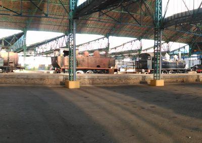 trenes en el almacen central