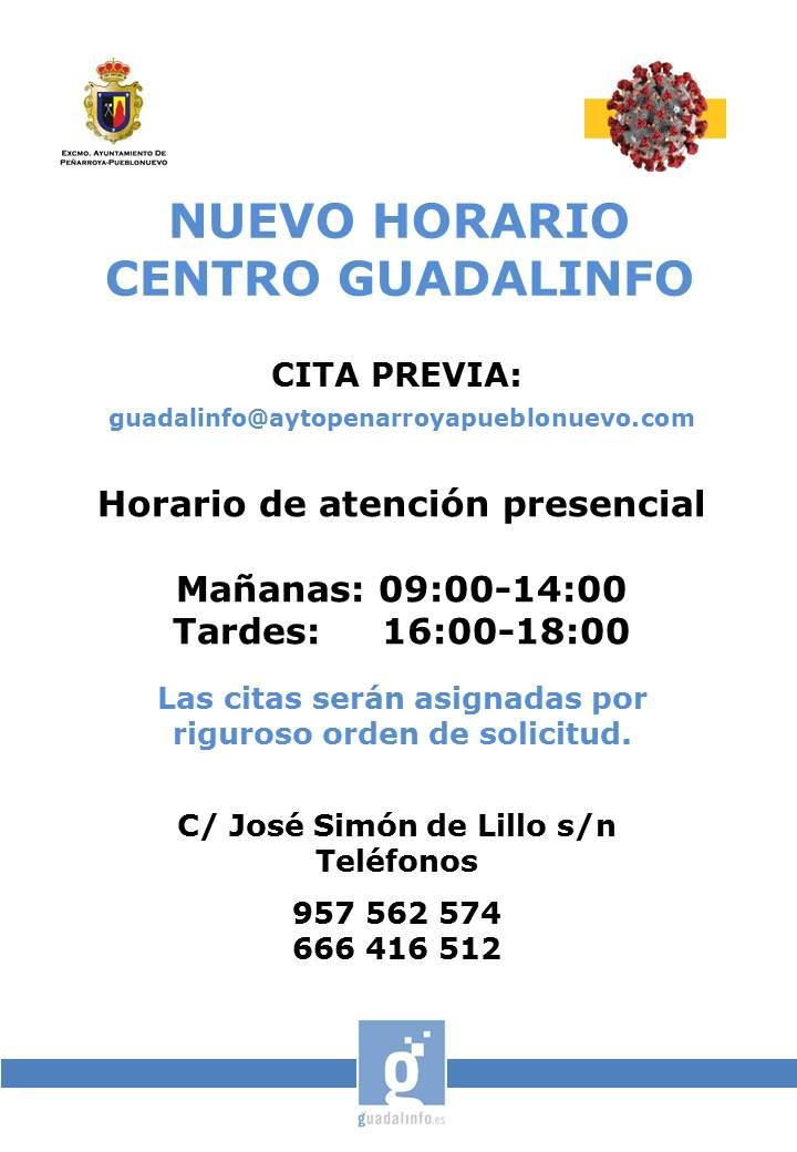 Nuevo Horario Centro Guadalinfo