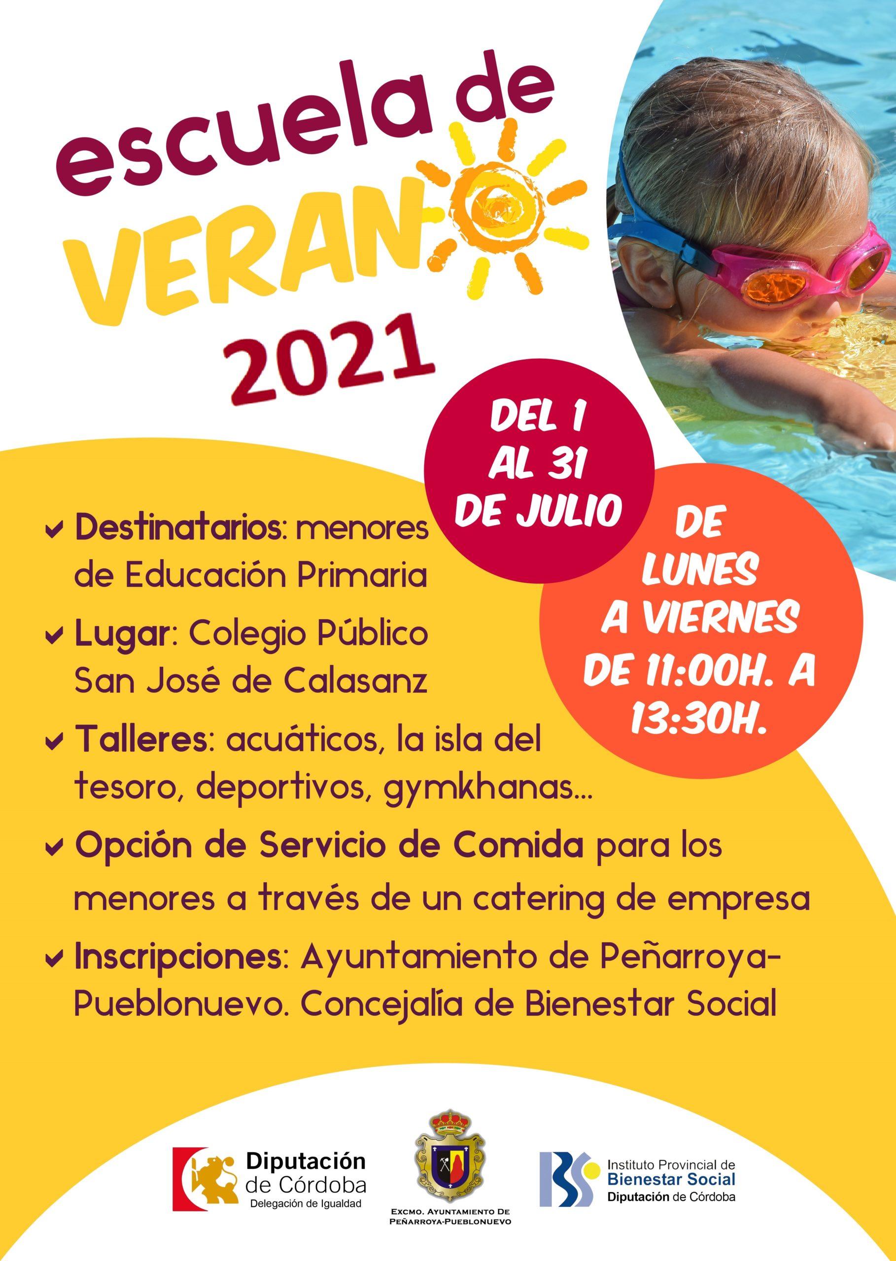 CARTEL ESCUELA VERANO 2021