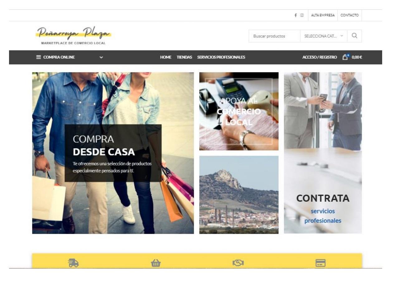 Portada Web Market Place Peñarroya Plaza