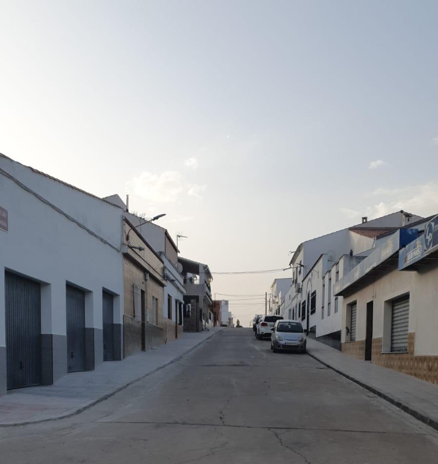 Calle Colombia tras las obras de mejora realizadas