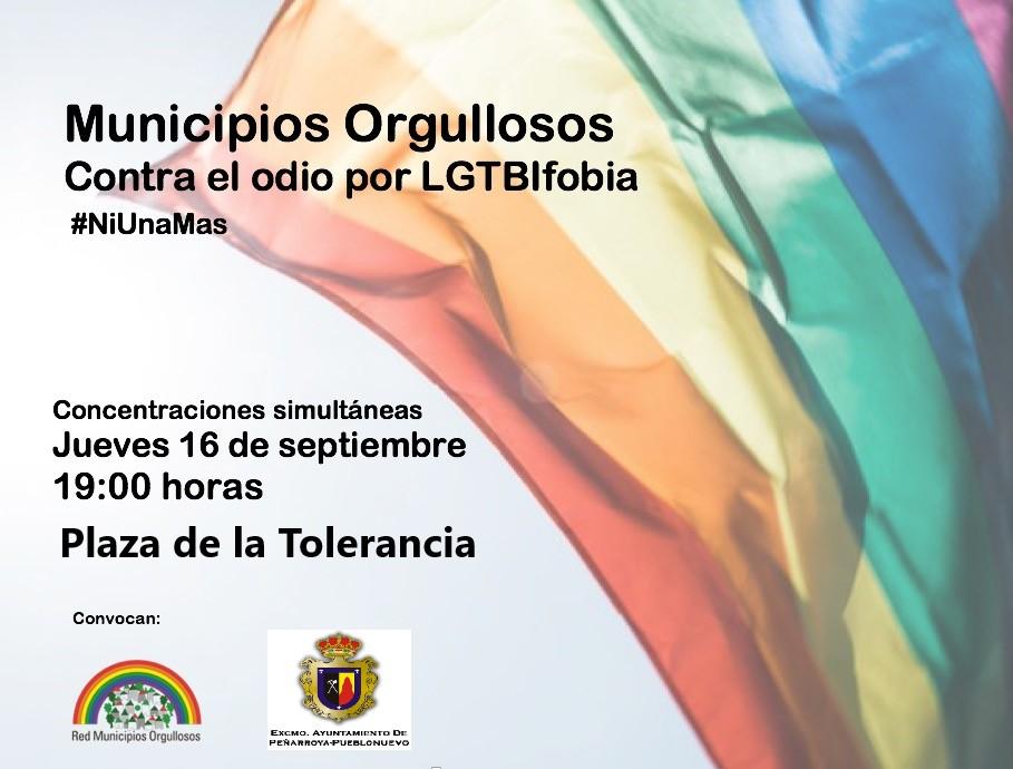Municipios Orgullosos: Concentraciones simultáneas contra el odio por LGTBIfobia #NiUnaMás